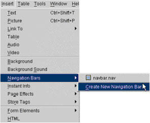 Creating a Navigation Bar with Yahoo! SiteBuilder
