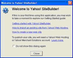 Create a Website with Yahoo! Site Builder